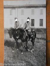 Vecchia fotografia di LUCCA Artiglieri a cavalli regio esercito italiano 1942