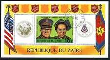 Block Zaire 1980 100 J. Heilsarmee General Brown m. Gattin 34 o gestempelt BR607