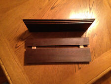 floating shelves 12 x 4 x 3/4 handcrafted of solid peruvian walnut wood,one only