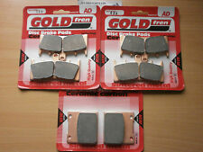 FULL SET SINTERED HH BRAKE PADS For: SUZUKI GSX 1300 HAYABUSA 2005-2007 GOLDFREN