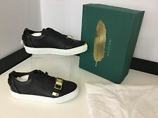 Buscemi Ladies Low Top Sneakers Uk 4 Eu37 Black & White Leather RRP £565