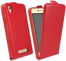 Handytasche für ZTE BLADE A452 Case Cover Hülle Zubehör Flip Tasche Rot