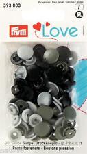 Love Druckknöpfe Color Snaps 393003 grautöne 12,4 mm Prym nähen stricken Knopf