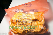 Antistatic Rubber Finger Cots 1000 Per Bag Natural Yellow Sealed MALAYSIA