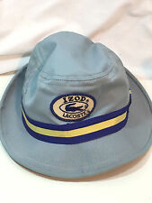 Vintage Lacoste IZOD Blue Bucket Hat Large Alligator Golf  Mens