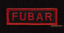 FUBAR SNIPER TAB HAT PATCH PIN UP SPECIAL OPS US ARMY MARINES NAVY AIR FORCE WOW