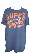 Mens navy blue with red print t-shirt by SUPERDRY XL EXC COND