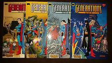 BATMAN & SUPERMAN GENERATIONS (deutsch) # 1+2+3+4 KOMPLETT - CARLSEN 1999 - TOP