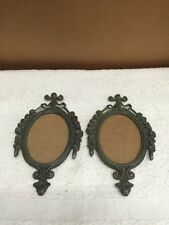 Vintage Pair Mini Brass Frame Wall Hangings/Picture Frames