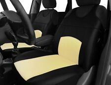 2 ECO LEATHER FRONT SEAT COVERS forVOLKSWAGEN CADDY BEETLE JETTA