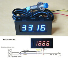 Punch Tachometer RPM Speed Meter Digital LED+ Hall Proximity Switch Sensor 12V B