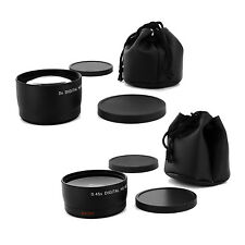 WIDE + TELE LENS Kit FOR Olympus EVOLT E-410 410E E-330 E-300 E-420 E-520 E-510