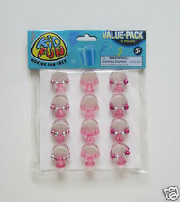 12 Princess Plastic Bead Rings Party Goody Loot Bag Filler Favor Jewelry Supply