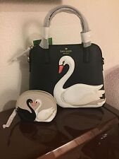 NWT Kate Spade On Pointe Swan Small Maise Bag Purse Satchel and Coin Purse