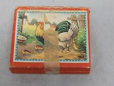Vintage Kubus WF Made in W Germany Wood Block 9 Pc Picture Puzzle in Box