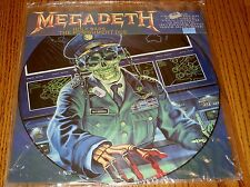 MEGADEATH PICTURE DISC HOLY WARS / THE PUNISHMENT DUE FACTORY SEALED!  1990