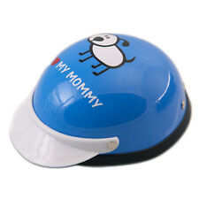 Dog, Cat Biker Helmet, Costume, Safety Hat,Plastic, Small - I love my Mommy-Blue
