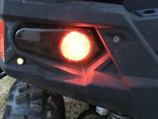 09-14 POLARIS RZR 800 - NEW PAIR BLACK REPLACEMENT TAIL LIGHTS w/ BLINKER  SMOKE