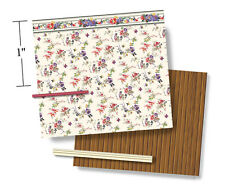 """1/4"""" Scale Dollhouse Wallpaper - Maytime - 1924 Vintage Pattern (1:48)"""