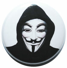 "1"" (25mm)  Anonymous 'V for Vendetta' Revolution Mask Button Badge Pin"