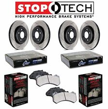 Honda Civic Acura ILX Front & Rear StopTech Slotted Brake Rotors Kit Sport Pads