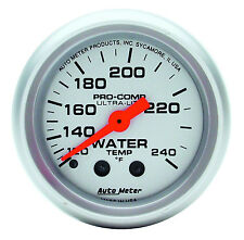 "Auto Meter 4332 Ultra-Lite Mechanical Water Temperature Gauge 2 1/16"" (52mm)"