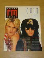 RECORD MIRROR 1987 AUG 1 DEF LEPPARD NEIL YOUNG SHAMEN