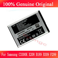100% Original Battery For Samsung C3300K X208 B189 B309 F299 AB463446BU 800mAh