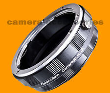 Macro Canon EOS EF EFS EF-S lens to Nikon SLR DSLR F camera mount adapter ring