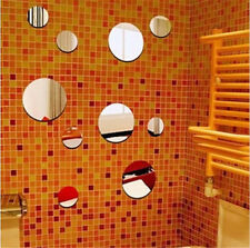 Removable Circles Mirror Style Decal Vinyl Art Wall Sticker Bathroom Decor