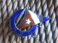 Old Enamel Sterling Silver M.Y.C. Millionaires Yacht Club? Yachting Flag Pin