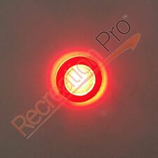 2 NEW ROUND RED LED LIVEWELL COURTESY LIGHTS MARINE BOAT RV 12V WATERPROOF