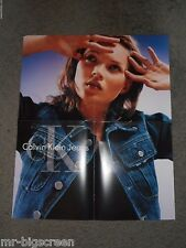 "KATE MOSS - CALVIN KLEIN JEANS - ORIGINAL FOLD-OUT POSTER - 19"" x 23"""