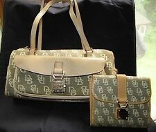 #DOONEYBAG DOONEY & BOURKE SIGNATURE SPEEDY WITH WALLET LOT 2 handbag purse tote