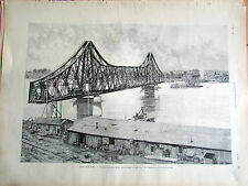 ROUMANIE CERNAVODA PONT DANUBE 1895 SC 3004 ILLUSTRATION ANCIENNE