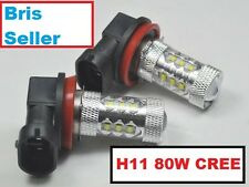 H11 Super Bright 6000K CREE LED Fog Light Bulbs . Warranty Xenon HID White