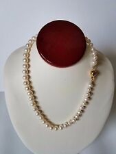 Genuine 8-9MM White South Sea Pearl Necklace 18 inches.