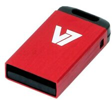 V7 Nano 32GB USB 2.0 Flash Stick Pen Memory Drive - Red