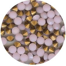451078*x10 STRASS ANCIENS FOND CONIQUE OPAL ROSE 6mm
