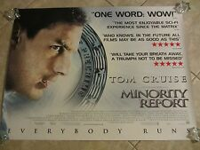 MINORITY REPORT movie poster TOM CRUISE poster (UK Quad Movie Poster)
