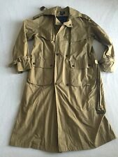 Mens Willis & Geiger Outfitters Khaki Trench Coat Adult Size Medium Jacket