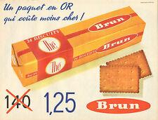 Publicité 1962  BISCUITS brun Thé ...
