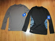NEW Lot of 2 BOY L large 10/12 10-12 STARTER compression long sleeve top