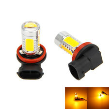 2x H11 H8 LED Yellow Amber 7.5W Car Fog Head Headlight Drivng Light Bulbs Lamp