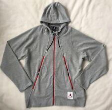 Nike Air Jordan Mens 4 Flight Hoodie XL Full Zip Grey Sweatshirt 724720 NEW $120