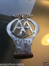 vintage 1932 AA flat badge mascot auto rare with bend car motorcycle scooter