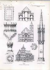 Gothic Ratisbon Plan Of The Church Of St Ulric
