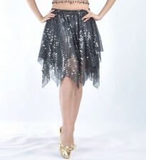New-Sexy-Belly-Dance-Costume-Skirt-Mesh-with-Sequin-Short-Skirt-Dress-color