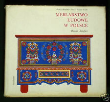 BOOK Polish Folk Furniture peasant construction craft painted trunk chest Poland