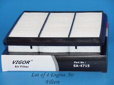 Lot of 4 Engine Air Filter SA4715 Fits: Dodge & Mitsubishi